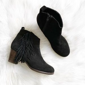 Matisse Cloey Fringe Suede Ankle Bootie